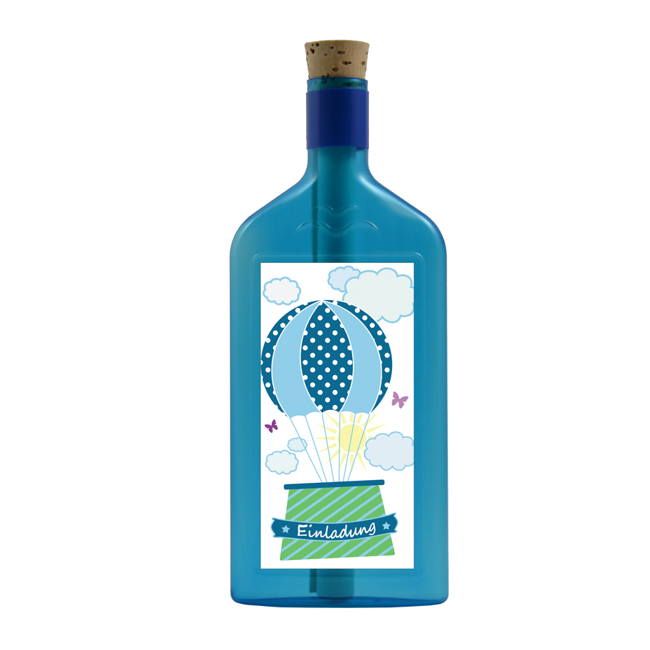 Einladung via Flaschengruss versenden