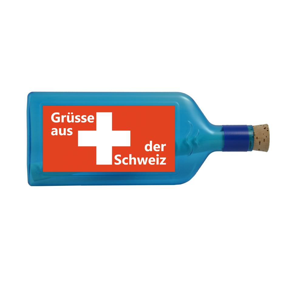 Flasche Blau Gr Sse Aus Der Schweiz