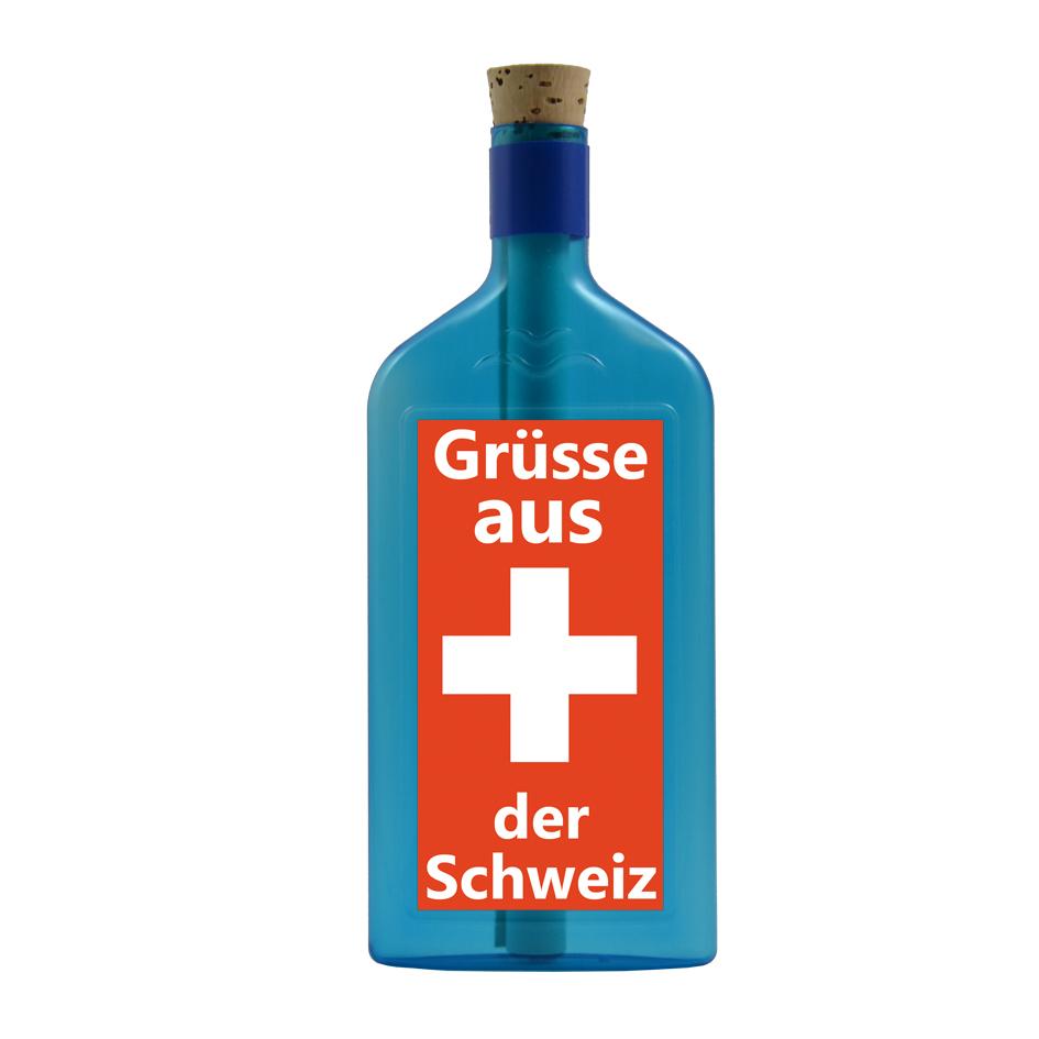 Grüsse aus der Schweiz per Flaschenpost