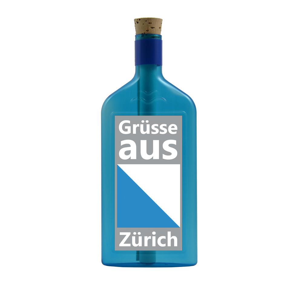 Grüsse aus Zürich per Flaschenpost