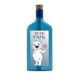 """Blaue Flasche mit Sujet """"Ich bin traurig..."""""""