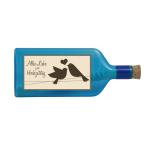 """Blaue Flasche mit Sujet """"Alles Liebe zum Hochzeitstag"""""""