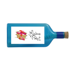"""Blaue Flasche mit Sujet """"Liebes Paket"""""""