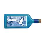 """Blaue Flasche mit Sujet """"Zur Firmung"""""""