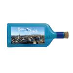 """Blaue Flasche mit Sujet """"Grüsse aus Zürich"""""""