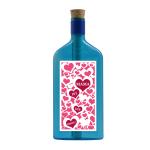 """Blaue Flasche mit Sujet """"Mama ist die Beste!"""""""