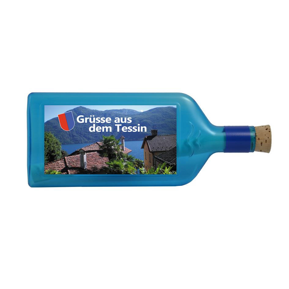 """Flaschenpost """"Grüsse aus dem Tessin"""""""