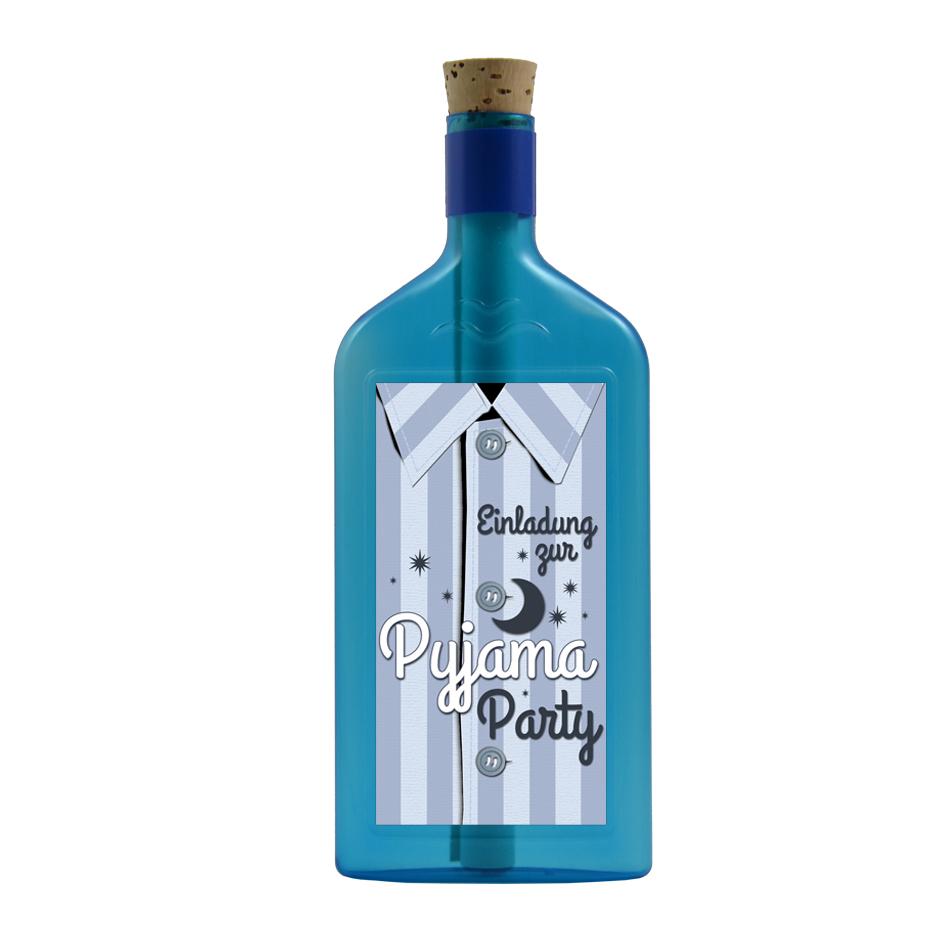 """Flaschenpost """"Einladung Pyjama Party"""""""