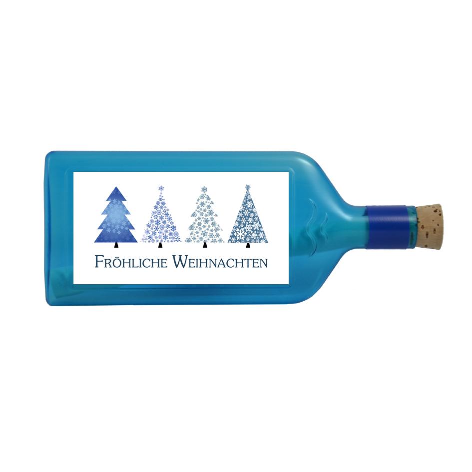 Flaschenpost Fröhliche Weihnachten